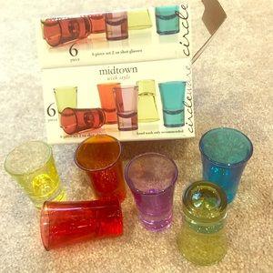 💚❤️🧡BRAND NEW RAINBOW SHOT GLASS SET 💜💛💙